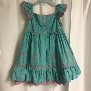 Matilda Jane Teal and Pink Dress, Size 2